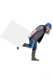Builder running away Royalty Free Stock Images