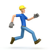 Builder runs Royalty Free Stock Photo