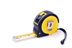 Builders tape measure. Tape measure  on a white background Royalty Free Stock Photos