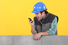 Builder shouting Royalty Free Stock Photo