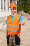 Builder showing okay gesture Royalty Free Stock Photos