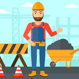 Builder showing thumbs up. Royalty Free Stock Photo