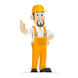 Builder shows thumbs up Royalty Free Stock Image