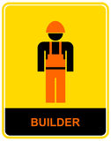 Builder - sign, pictogram Stock Images
