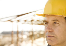 Builder on site Royalty Free Stock Image