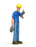 Builder with small salaries Royalty Free Stock Photos