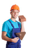 Builder with spatula Stock Image
