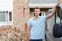 Builder Standing Next To Van Royalty Free Stock Images