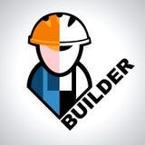 Builder symbol. Abstract symbol of the flat builder stock illustration