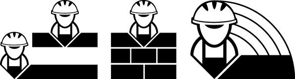 Builder symbols Royalty Free Stock Photos