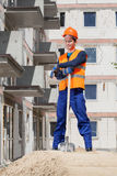 Builder taking a break from work Stock Photography