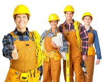 Builder team royalty free stock photos