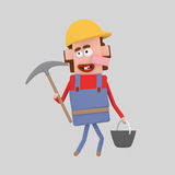 Builder with tools Stock Image