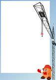 The builder and the tower crane Stock Photography