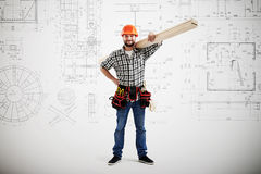 Builder in uniform Stock Images