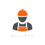Builder vector logo. Isolated on white background Royalty Free Stock Photos
