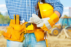 Builder very close up Stock Photography