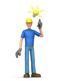 Builder visited idea Royalty Free Stock Images