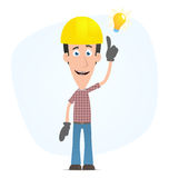 Builder visited idea Stock Photos