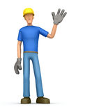 Builder welcomes Royalty Free Stock Image