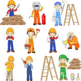 Builder, welder, painter, contractor, engineer and electrician w Stock Photo