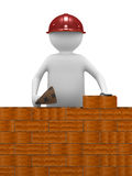 Builder on white background Royalty Free Stock Photo