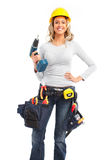 Builder woman Stock Photo