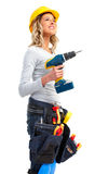 Builder woman Royalty Free Stock Images