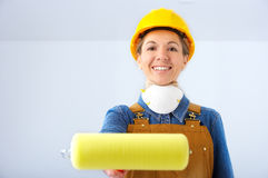 Builder woman Royalty Free Stock Photo