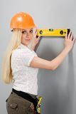 Builder-woman royalty free stock photo