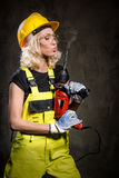 Builder woman Stock Photography