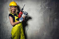 Builder woman Stock Image