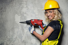 Builder woman Royalty Free Stock Photos