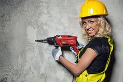 Builder woman Royalty Free Stock Photos