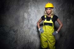 Builder woman Royalty Free Stock Photography