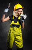 Builder woman Stock Images
