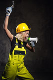 Builder woman Stock Photos