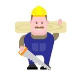 Builder woodworker Stock Photo