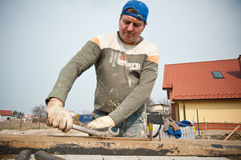 Builder at work Stock Photography