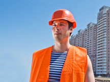 Builder at work Royalty Free Stock Image