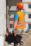 Builder before work Stock Image