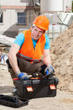Builder before work Royalty Free Stock Photos