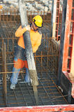 Builder worker at concrete work Royalty Free Stock Photography