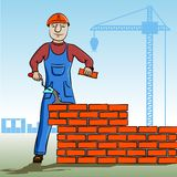 Builder working. Royalty Free Stock Photos