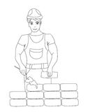 Builder working. Stock Photography
