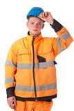 Builder in working clothes Royalty Free Stock Image
