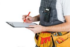 The builder writes to the clipboard.  on white backgroun. D Stock Images