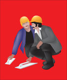 Builders. This image is a vector illustration and can be scaled to any size without loss of resolution Stock Image
