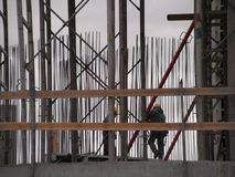 Builders. At the construction site Royalty Free Stock Photos