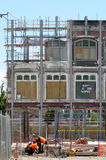 Builders builds a new building in Christchurch New Zealand Royalty Free Stock Photos